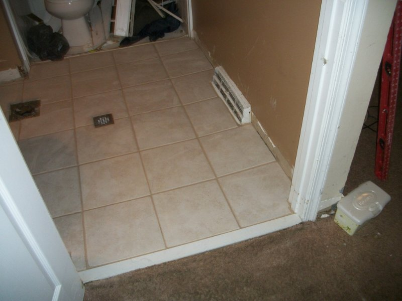flooring drain installation
