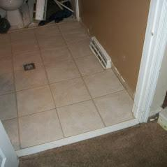 flooring replacement drain installation