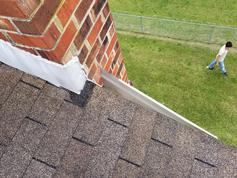 during roof flashing repair